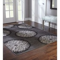 Carpette Home Trends Médaillons Anthracite 152 cm x 245 cm