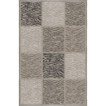 Home Trends Accent Mat Taupe Zebra Boxes