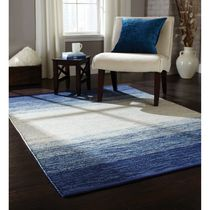 Home Trends Area Rug 4 Ft. 11 In. X 6 Ft. 9 In. Indigo Ombre