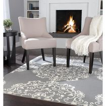 Home Trends Area Rug 6 Ft. 6 In. X 8 Ft. 6 In. Grey/Ivory Medallion