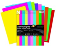 Papier Astrobrights de couleurs assorties