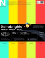 Assortiment de papier 5 couleurs Astro Brights