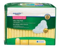 Equate Moderate Absorbency Ultra Thin Pads