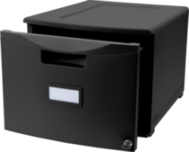 "18"" Drawer with lock, Black"