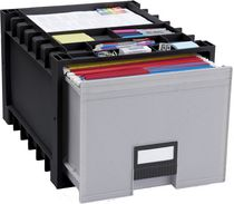 "Storex Archive Storage Box with 18"" File Drawer for Letter Hanging Folders"