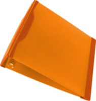 DuraGrip 1 Inch O Ring Binder, Hard Poly, Orange