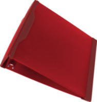 Storex Duratech 2-Inch Binder, Hard Poly, Red