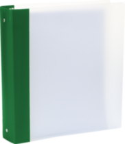 Storex Flexicolor 1.5-Inch Binder, Green Spine