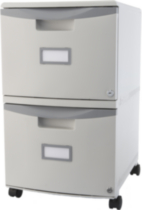 "18"" Mobile Filling Cabinet with 2 Drawer with Lock Grey"