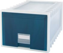 Storex Archive Storage Box, Letter/Legal, 24-Inch Depth, White/Green
