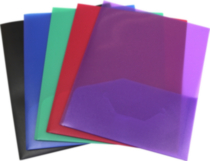 Storex Poly Portfolios, 5 Pack, Assorted Colors