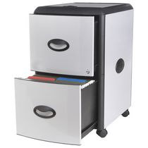 Storex Filing Cabinet 2-Drawer+Roll Away Lid/ Letter&Legal size
