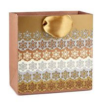 Hallmark Signature Laser Metallic Snowflake Small Gift Bag