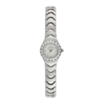 Elgin Ladies' Silvertone Watch with Crystals