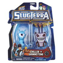 Ensemble de 2 figurines base de Slugterra - Chiller et Grimmstone