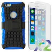 Exian Armored Case with Stand for iPhone 6 Plus - Blue