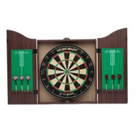"World Master Pro 18"" Dartboard and Cabinet Set"
