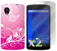 Exian Case For LG Nexus  5, Butterflies and Flowers - Pink