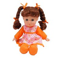 Kid Connection Soft Baby Girl Doll (Orange)