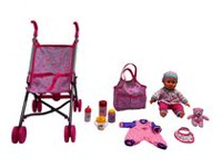 Baby with Stroller (Pink)