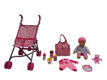 Baby with Stroller (Hot Pink)