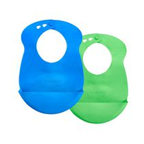 Tommee Tippee Boys' Roll 'N' Go Bib, Pack of 2
