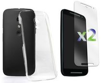 Exian Transparent Case for Moto G2 Clear