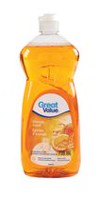 Great Value Orange Scent Dishwashing Liquid