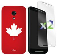 Exian Case for Moto G2 - Maple Leaf Design