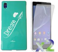 Exian Case for Xperia Z2, Dream White - Teal