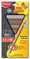 Maped Black' Peps Graphite Pencils with Sharpener