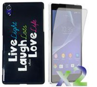 Exian Case for Xperia Z2 - Live Laugh Love
