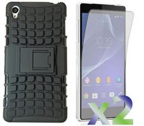 Exian Armored Case with Stand for Xperia Z2