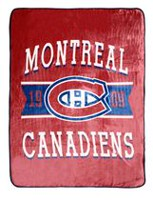 NHL Luxury Velour Blanket- Montreal Canadiens