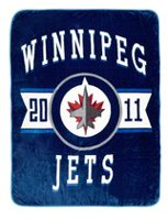 Couverture de luxe en velours LNH - Winnipeg Jets
