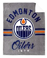 NHL Team Throw- Edmonton Oilers