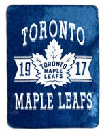 NHL Luxury Velour Blanket- Toronto Maple Leafs