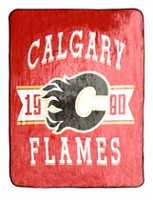 NHL Luxury Velour Blanket- Calgary Flames