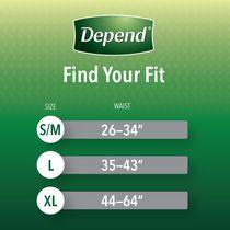 Depend Fit-Flex Men's Maximum Absorbency Underwear - image 2 of 8