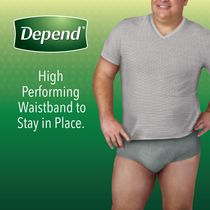 Depend Fit-Flex Men's Maximum Absorbency Underwear - image 4 of 8