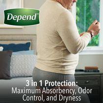 Depend Fit-Flex Men's Maximum Absorbency Underwear - image 5 of 8