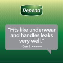 Depend Fit-Flex Men's Maximum Absorbency Underwear - image 7 of 8