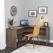 Prepac 56 in W x 29 in H x 56 in D L-shaped Desk