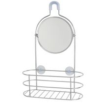 Exquisite shower caddy with mirror