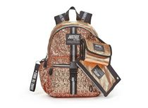 """Justice™ Brand Girls Gold Sequin Multi Compartment 17"""" Backpack Value Set Includes Insulated Lunch Bag and Pencil Case"""