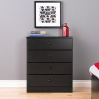 Prepac Astrid Black 4-Drawer Dresser