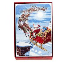 Hallmark Santa in Sleigh Boxed Cards (Walmart Exclusive)
