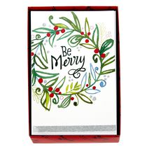 Hallmark Be Merry Wreath Boxed Cards (Walmart Exclusive)