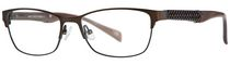 AV Studio Women's AV50S Semi-Matte Dark Brown Eyeglass Frame