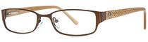 AV Studio Women's AV58S Matte Brown Eyeglass Frame
